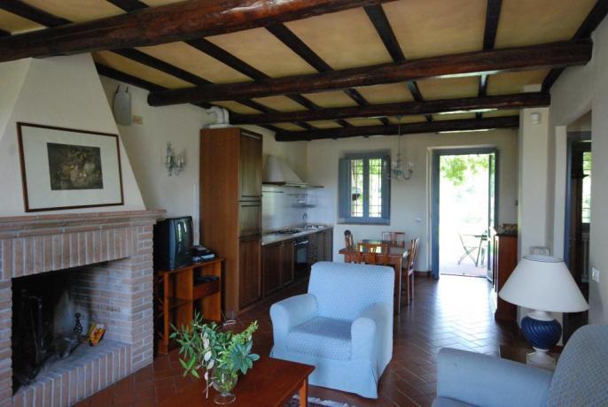 Appartamenti comunicanti per gruppi vicino Spoleto