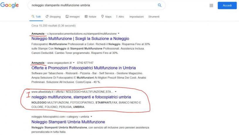 Servizio SEO per Azienda: Noleggio-Stampante-Multifunzione-Umbria