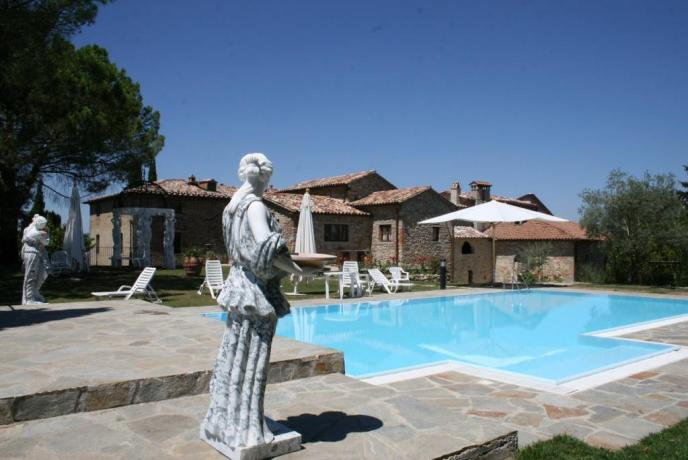 Week end tra umbria e toscana in hotel con piscina coperta for Piani di piscina coperta