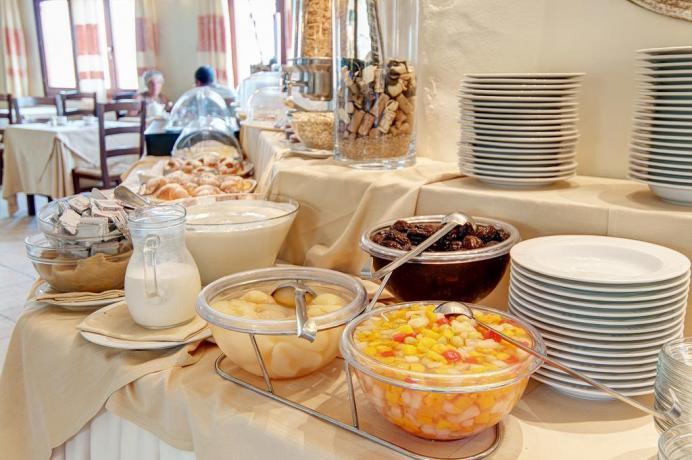 colazione a buffet a baia sardinia
