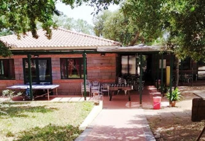 Zona bar e ristorante Villaggio Campeggio Sardegna-Oristano-Norbello