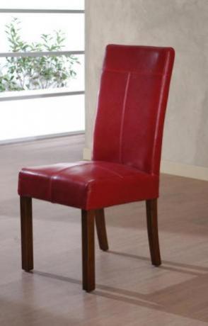 Sedia Denver Ecopelle - colore Rosso