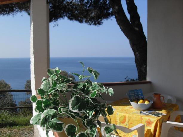 Appartamento vacanza con patio vista mare Palinuro