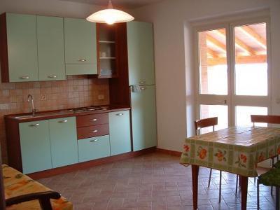 cucina degli appartamenti del B&B toscana