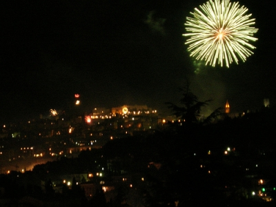 Fuochi sopra Perugia