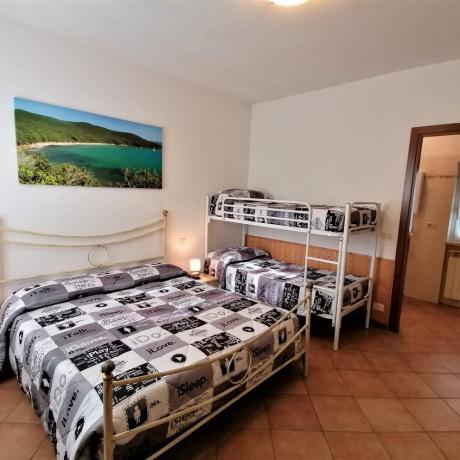 Camera quadrupla letto a castello agriturismo a Manciano