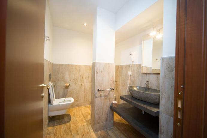 Bagno privato appartamento-vacanze 3posti letto Bardonecchia set cortesia