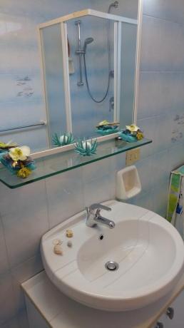 Bagno appartamento casa vacanze a Barano d'Ischia