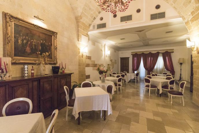 Sala Ristorante in Hotel 4 stelle a Cellino