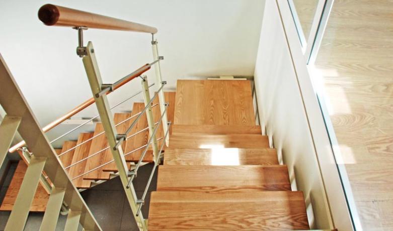 s85 rampe con gradini in legno