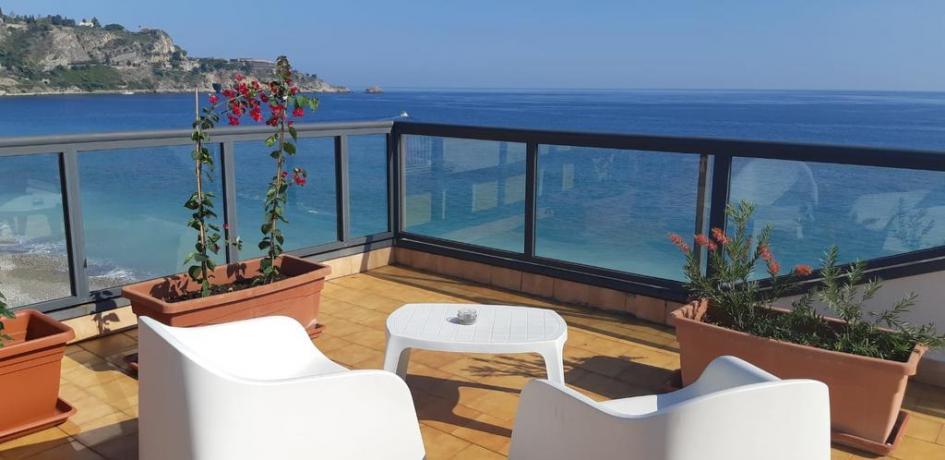 Terrazza Panoramica a Taormina Vista-Mare vicino Stazione-Treni