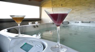 Benessere vasca idromassaggio,sauna con vista panoramica
