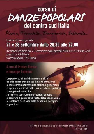 Corso di Danze Popolari del centro sud Italia - sede Nomentana