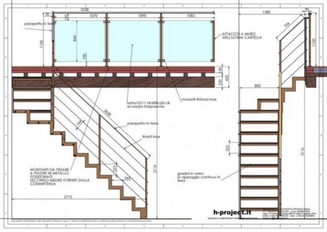 s2-d5 scala prefabbricata disegni