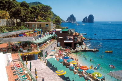 Beaches and sea in Capri