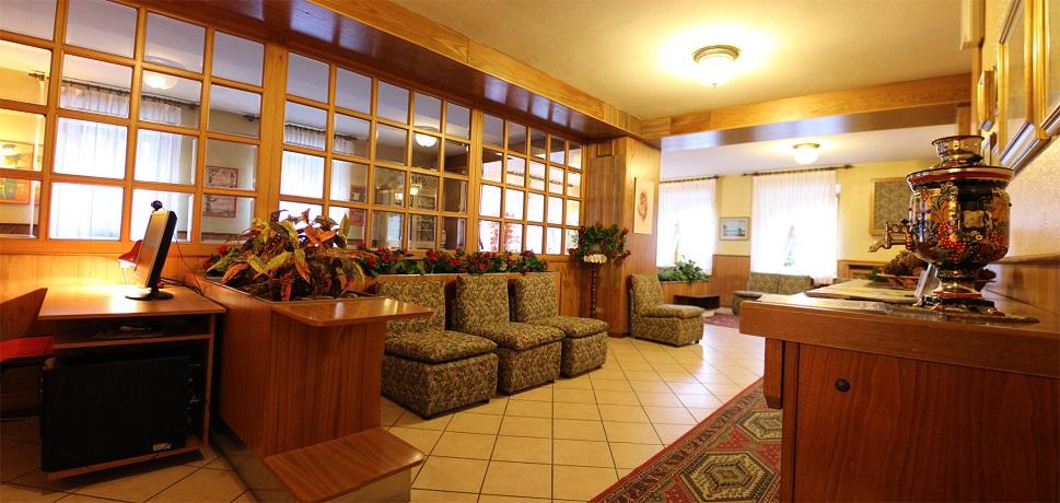 Hall dell'albergo in Trentino WiFi gratis