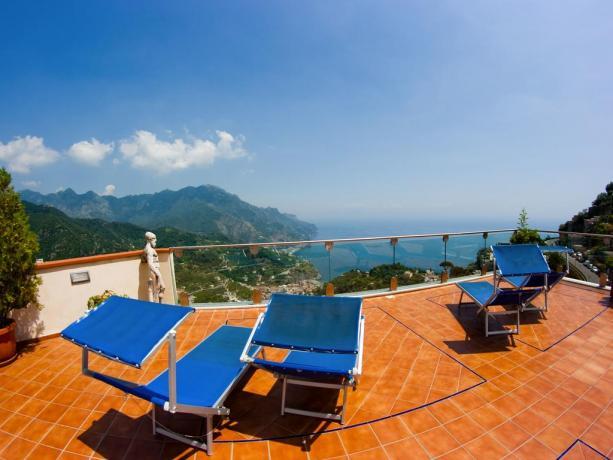 Terrazza panoramica dell'Hotel a Ravello