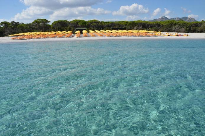 Spiaggia con mare cristallino a Orosei