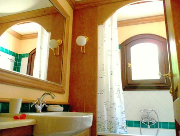 Bagno riservato in appartamento hotel Costa Smeralda