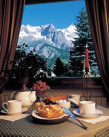 Sala per colazione vicino piste sciistiche