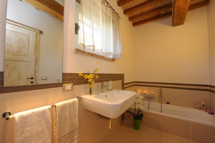 Agriturismo a Perugia con comodo bagno