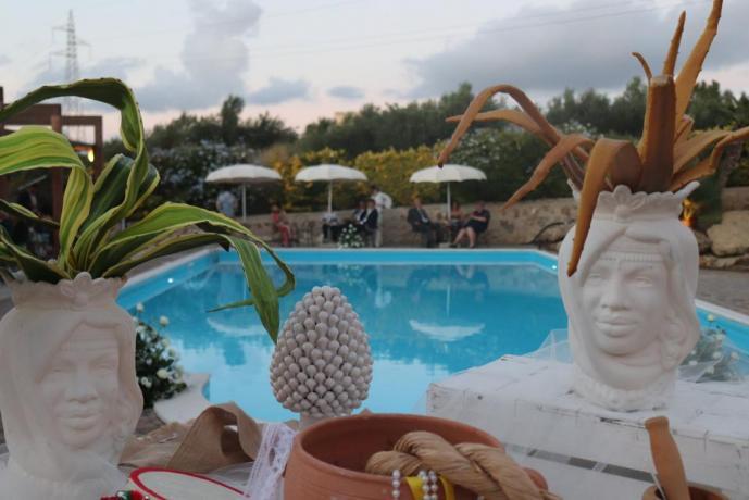 Eventi in piscina agriturismo Trapani
