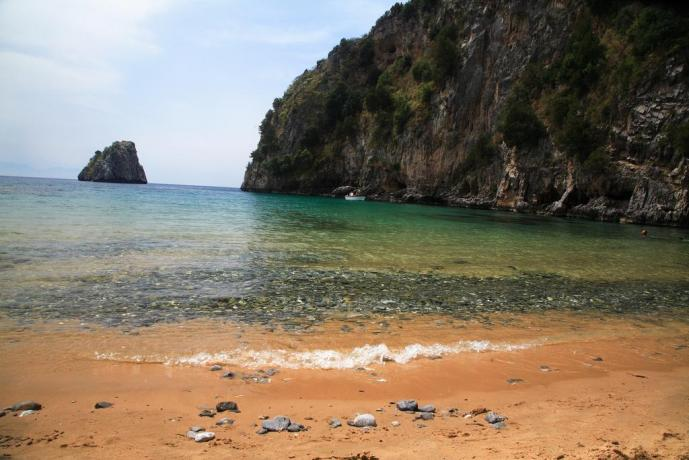 Spiaggia privata hotel a Capo Palinuro