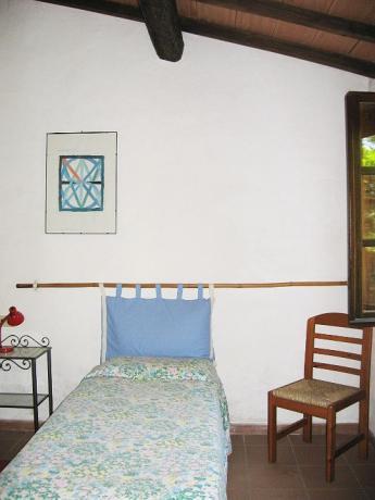 Camera singola appartamento Erica casale Castiglione-del-Lago