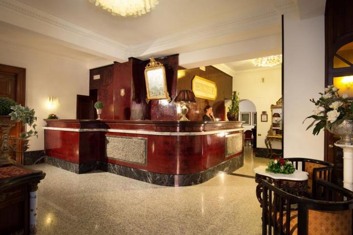 Reception dell'hotel nel Lazio
