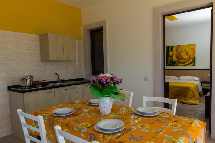 Camera con angolo cucina in B&B vicino Bari