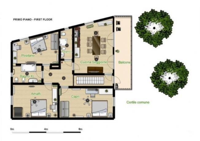 Ampia casa vacanza per famiglie a Sorrento
