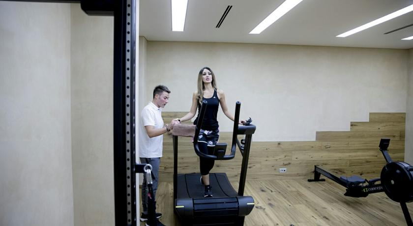 Palestra attrezzata Technogym all'hotel vicino Salerno