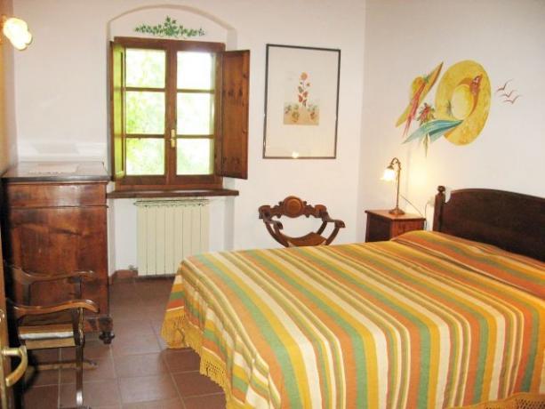 Camera matrimoniale appartamento Ginepro Castiglione-del-Lago