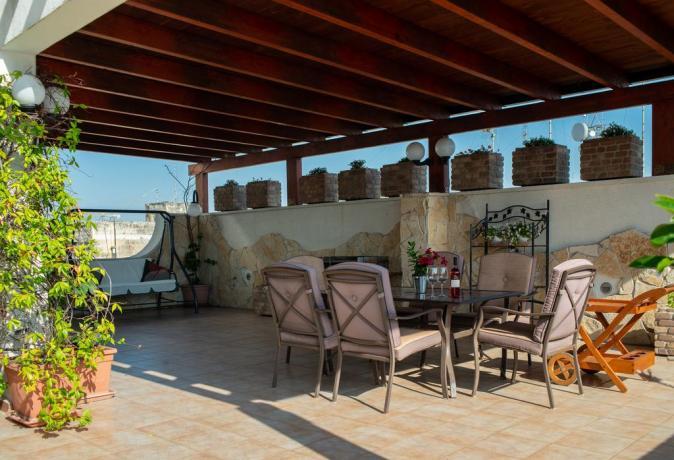 Terrazza panoramica in B&B a Lecce