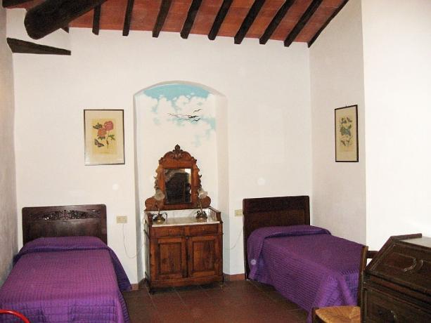 Appartamento Ginepro 2 letti singoli Castiglione-del-Lago