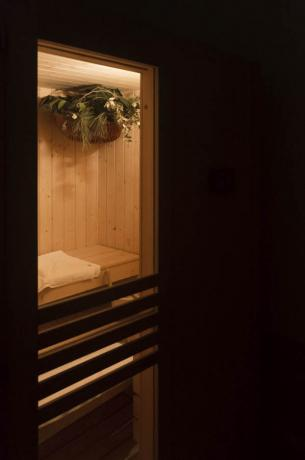 Sauna in centro benessere hotel a Numana