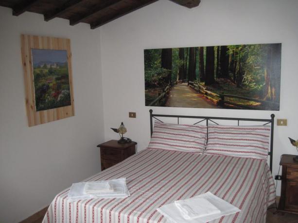 Camera da letto dell'appartamento