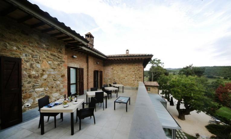 Umbria Resort, Terrazza Panoramica vista colline-umbre