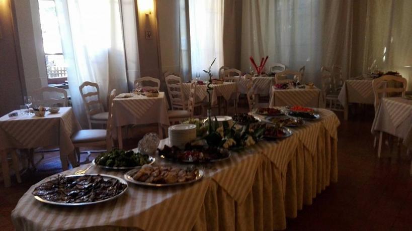 Sala ristorante in hotel 4 stelle a Fiuggi
