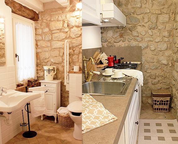 Alloggio al piano terra: cucina e bagno