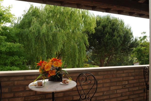 balcone con vista panoramica appartamento Magnolia