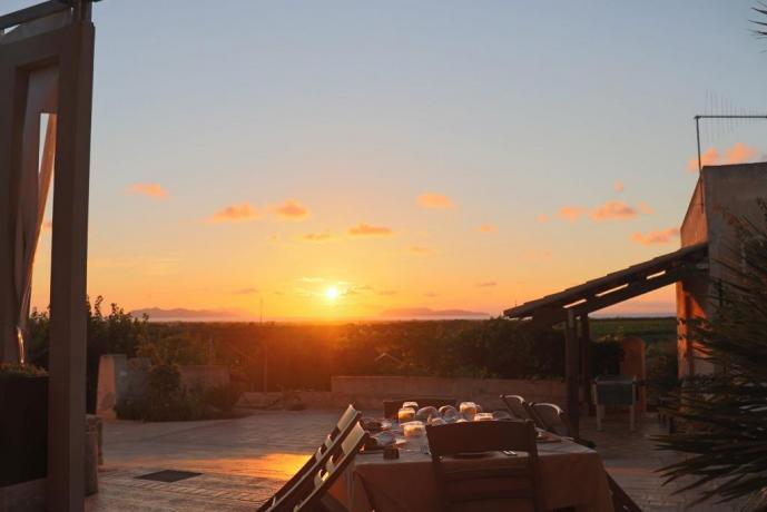 Cena al tramonto agriturismo Trapani