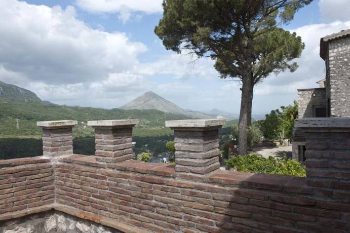 Balcone con vista panoramica appartamento Gaeta