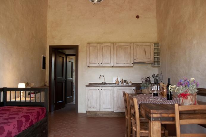 angolo cottura, zona giorno, appartamento vacanza in toscana