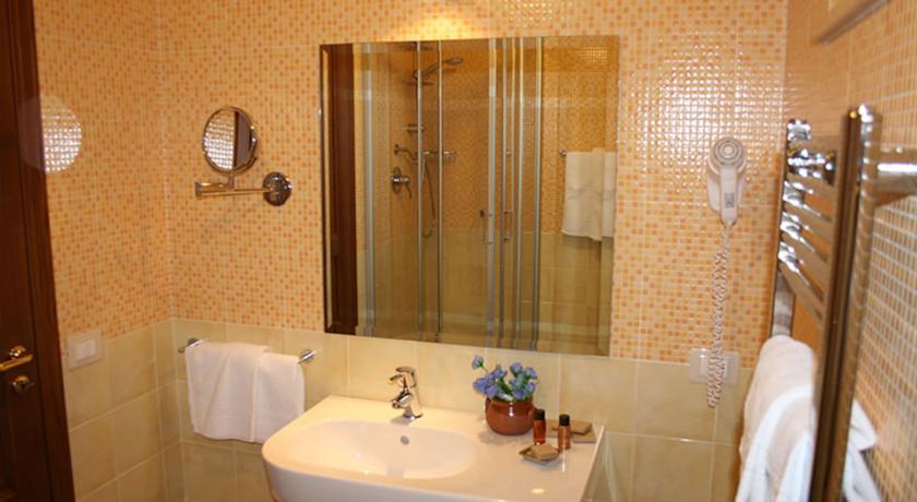Bagno privato nelle camere dell'Hotel