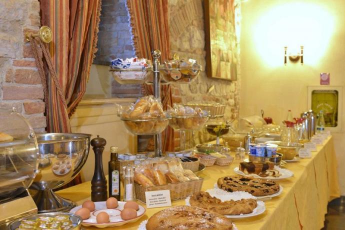 Sala colazione Antico Palazzo dentro Todi