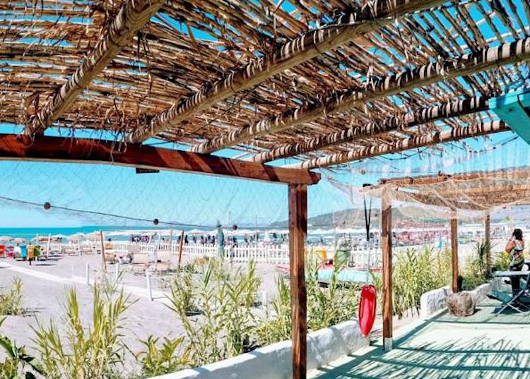 Patio fronte mare in hotel Golfo di Gaeta