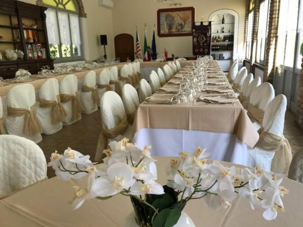 Elegante sala ristorante villa storica vicino San-Sepolcro
