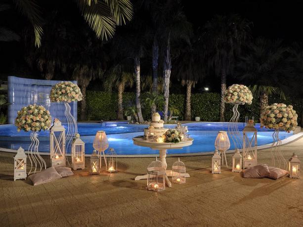 Matrimonio a bordo piscina in hotel4stelle Battipaglia-Salerno