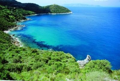 View over the argentario-coast